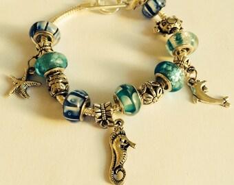 European Bead Seashore Bracelet
