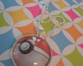 Real TCG Pokemon Pokeball Necklace