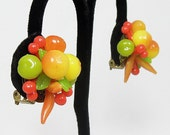 RESERVED LISTING for GEORGIA - Cute and Colorful Vintage Fruit Earrings