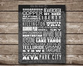 Colorado Ski Slopes Printable Poster - Made to Order