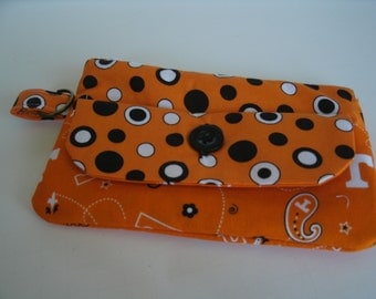 TN Vols Large Fabric Wallet with Zipper Pouch
