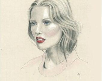 Fashion Illustration '12x16' - Molly