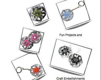 Crochet Pattern - INSTANT DOWNLOAD PDF Pattern - How to Crochet Pop Tab Flowers Tutorial
