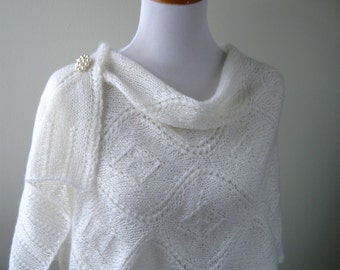 Hand Knit Shawl / Wrap -MADE TO ORDER