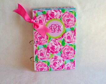 Agenda, 6 x 9 Notebook, Three Ring Notebook, Monogram Binder, Planner, Organizer Notebook, Student Planner, Recipe Binder, Planner Cover