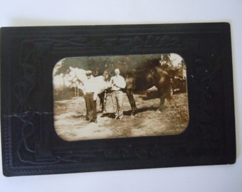 Antique Photograph Uncle Frank Historical Photo Horse Pose