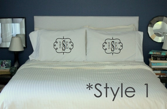 items similar to monogram pillow cases wedding gift his and hers pillows monogram cool monogram personalized wedding gift personalized monogram pillows on