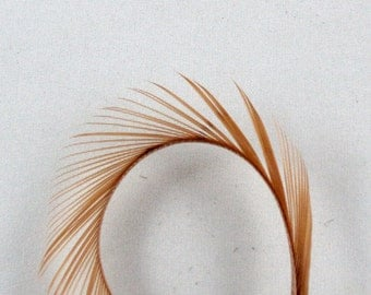 tan Feathers Goose Biots 4  GBD-28 craft feathers fly tying feathers