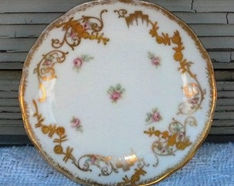 Vintage Butter Pat Dish Higgins & Seiter New York Elite France China Dishes Fine China Gold Design Replacement Dishes