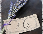French Lavender Place Card Or Escort Card - Table Decor Weddings - Dried Flower - DIY Name Tag  - Paper Goods - Holiday Table Setting