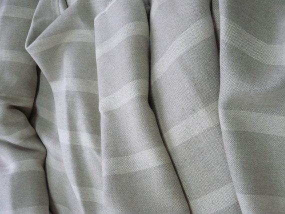 Linen heavy fabric with softeningstripesGray color fine