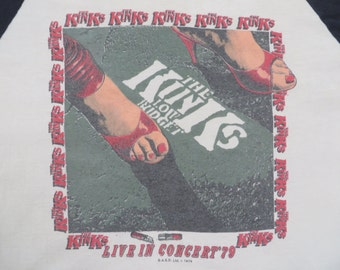 KINKS vintage 1979 tour TSHIRT