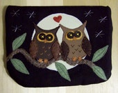 Owl In Love, Large Pouch