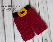 CROCHET PATTERN- santa pants pattern, baby crochet patterns