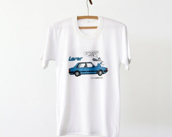 vintage 80s t-shirt,  Ford Laser car tee