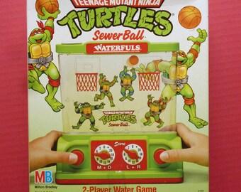 1990 NOS RARE Teenage Ninja Turtles Sewerball water game by Milton Bradley