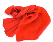 hand dyed silk charmeuse scarf  ...  red silk scarf