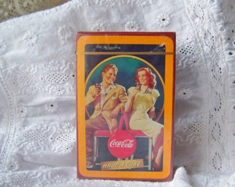 Vintage Deck of Cards Coca Cola Sealed Bridge Cards Playing Cards Coke Memorabilia 1992