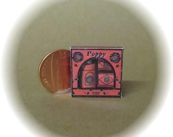 Dollhouse miniature toiletries, gift box poppy, soaps and talc. *SALE*
