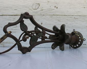 Antique Brass and Cast Iron Pendant Light - Ampinco No. 12862