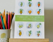 """2014  Calendar for Desk or Wall """"Pears of the World"""" by Angry Pear"""