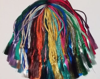 50 Floss Bookmark Tassels Assorted Colors