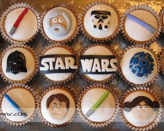 EDIBLE (Fondant Toppers) - Star Wars Inspired