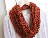 Crochet Chain Infinity Scarf