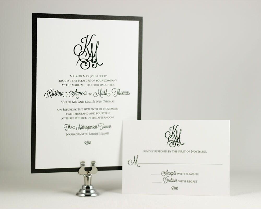 Initial Wedding Invitations: Monogram Wedding Invitations Sample By EdenWeddingStudio