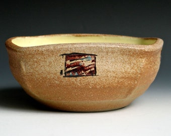 Hand Painted Square Bowl 2
