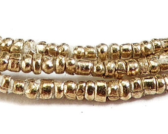 Ethiopian Brass Metal Heishi Trade Beads Tiny African 74120