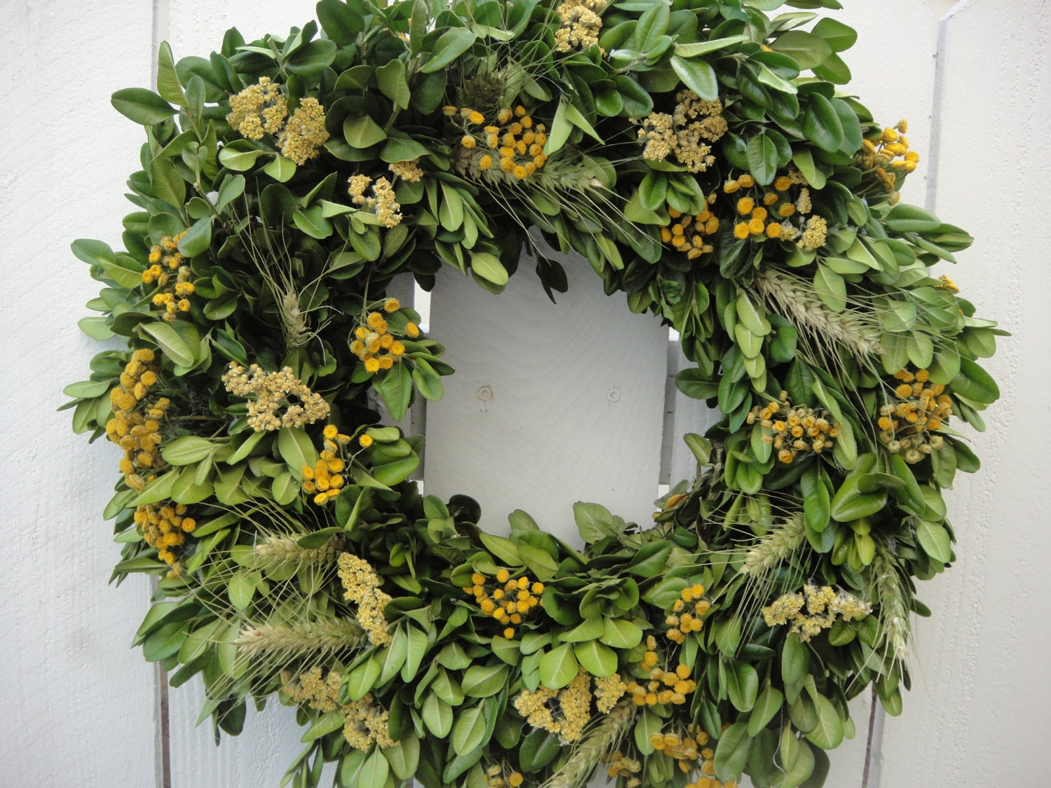 Decorate Your Own Home Dried Boxwood Wreath Dried Wreath Autumn Wreath Fall