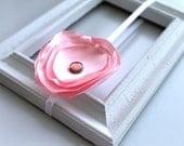 small baby pink silk flower headband newborn-toddler-child-teen-adult