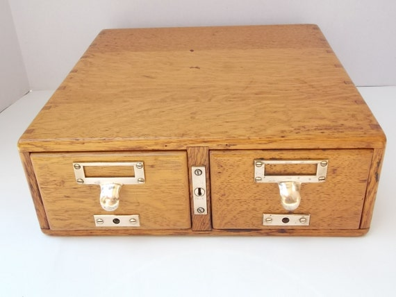 Vintage Oak Library Card Catalogue Drawer Great Shape