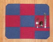 Red and Blue Pocket Placemats