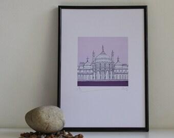 SIGNED PRINT Purple Pavilion