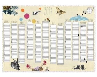 SALE - 2014 Calendar YELLOW