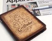 Kindle Leather Cover - Gryffindor - Customizable - Free Personalization