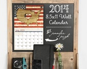 2014 Monthly Wall Hanging Art Calendar - 11x17 -13 Month -Bold, Modern, Colorful Designs