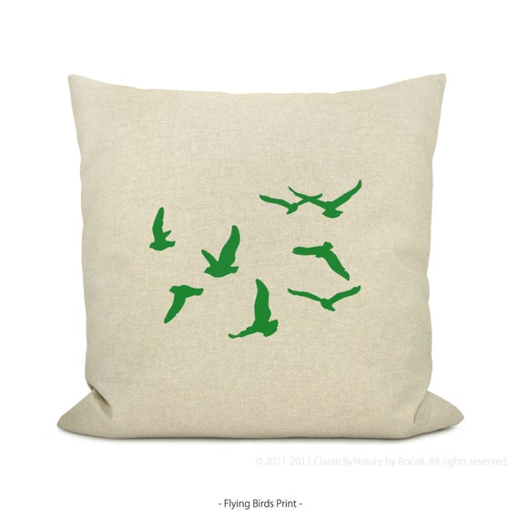Custom Printed Throw Pillow Cases : 20x20 Personalized Pillow Case Your choice of print color