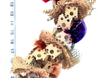 Crunchy Caterpillar- Shredder & Foraging Bird Toy - Great for foraging.  Bird Toy for medium sized birds.