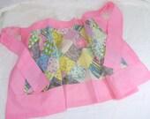 Vintage Kitchen Apron Pink Scrap Quilt Patchwork Cotton