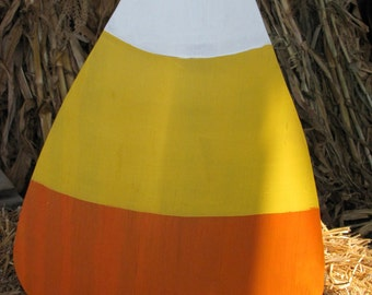 Large Wooden Candy Corn