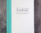 Personalized Travel Journal- Choose Your Own Binding- Hand Lettered- Wanderlust