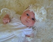 Christening Flower Headband, Baptism Headband, Ivory Flower Headband, Easter Headband, Baptism, Blessings, Headband,Hair Bows, Hairbows