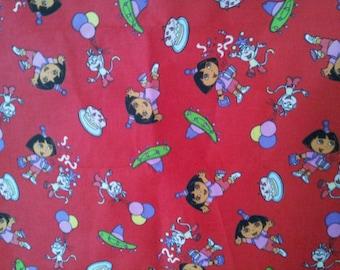 SALE      Dora Cotton Fabric    1/4 yard 44 Inches wide