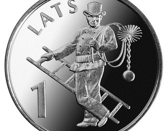CHIMNEY SWEEP Lucky Coin - Jewelry Making - Scrapbooking - Original Presents - Supplies - Collectibles Coin - Numismatics