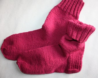 27 cm /// 10,6 inches Gorgeous Woolen Hand Knitted Socks - Perfectly keep heel - Unisex - US Men 9 /// US Women 10,5 /// EU 43