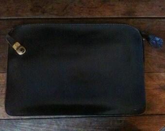 Vintage English British Gentlemen's Attache Case Briefcase Document Wallet circa 1960's / English Shop