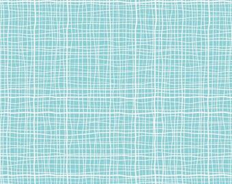 Treasure Map Crosshatch Blue by Lesley Grainger for Riley Blake